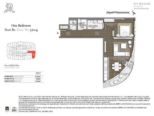 Kula Beograd - 3204 St. Regis 73m2*** Bez provizije*** - slika 2