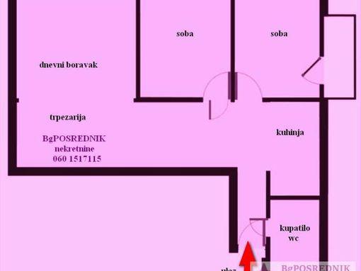 Vračar, Čuburski park - Sazonova 78 m2, Sazonova - slika 2