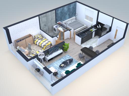 Lux stan u centru na prodaju 62m2 +12m2 gratis terasa - slika 3