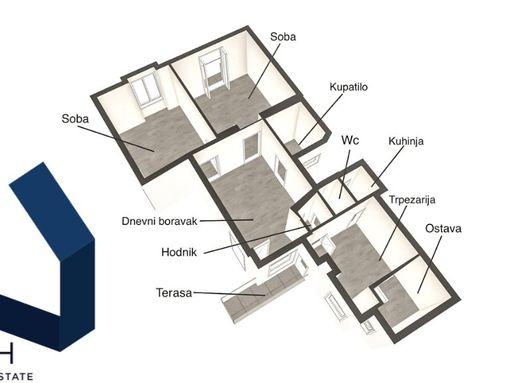 Vračar, Krunska komforan 3.0 sa terasom 75m2 salonski - slika 2