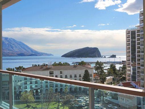 Budva, TQ Plaza – dvosoban luksuzan apartman s otvorenim pogledom na more - slika 2