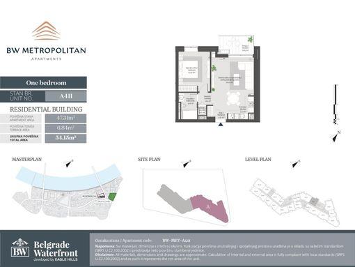 Specijalna ponuda *Metropolitan* 54.15 m2 2.0 sa terasom  - slika 2