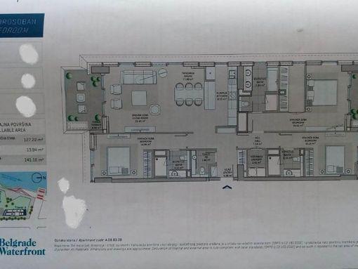 Najekskluzivniji trostrano orijentisan kula A 141 m2 - slika 3