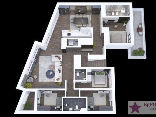 Vračar,Penthouse, Mileševska,185m2+150m2+2parkinga, Mileševska - slika 2