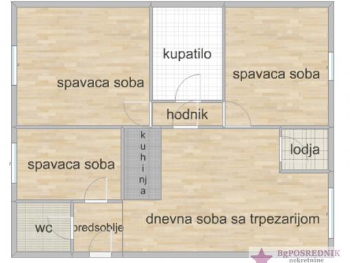 Zvezdara, Medaković III,  Braće Srnić 79 m2, Braće Srnić - slika 2