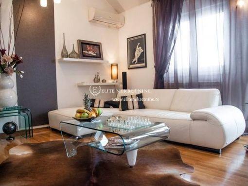 Izdavanje luksuznog stana Vracar, Đakuzi na terasi , garazno  mestom. - slika 2