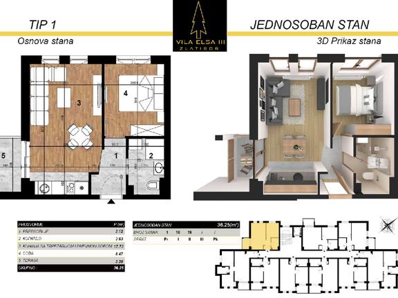 Vila Elsa III Lux apartmani 36 m2 na prodaju, Zlatibor