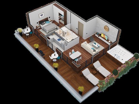 """""""Tara"""" Penthouse apartman površine 51 m², 21st Century Zlatibor Residence, Spa & Wellness by Adora"""