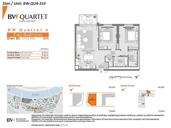 Belgrade Waterfront Quartet 314 Dvosoban stan