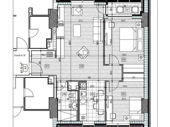 Hotel Jahorina, Apartman B 210 - 67.72m2