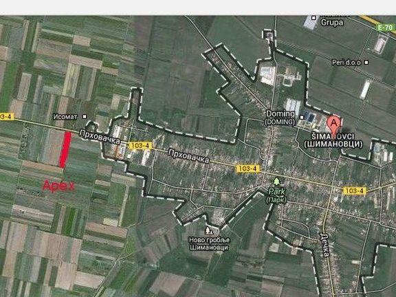 POGODNOST cene i lokacije za investitore,  Simanovci,  2 ha