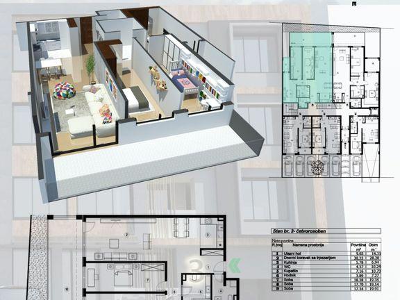 Prodaja četvorosobnog stana 150m2, u luksuznoj novogradnji na Zvezdari