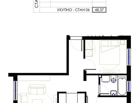 Mirjevo,prodaje se lep,dvoiposoban stan u izgradnji od 48m2 na 3/3 spratu,terasa,eg,lift,povracaj pdv.