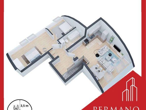 2,5 soban - 65m2 - Detelinara - 1250e/m2