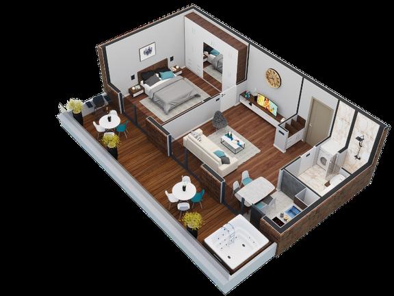 """""""Drina"""" Penthouse apartman površine 42 m², 21st Century Zlatibor Residence, Spa & Wellness"""