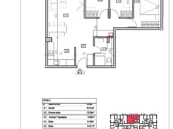 Trosoban stan u Inđiji