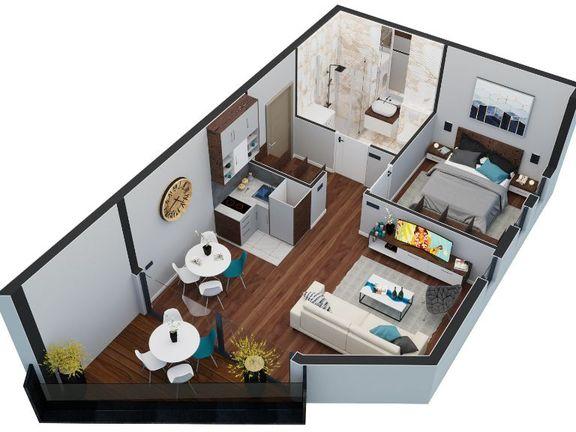 Jednosoban apartman površine 36 m², 21st Century Zlatibor Residence, Spa & Wellness by Adora
