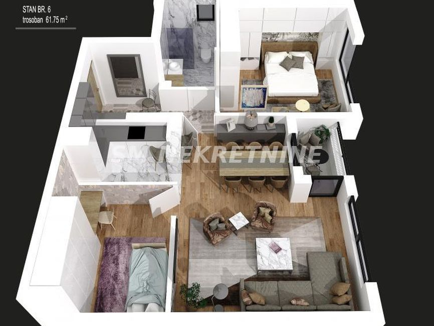 Nov lux stan 62m2, Voždovac centar, Koste Jovanovića