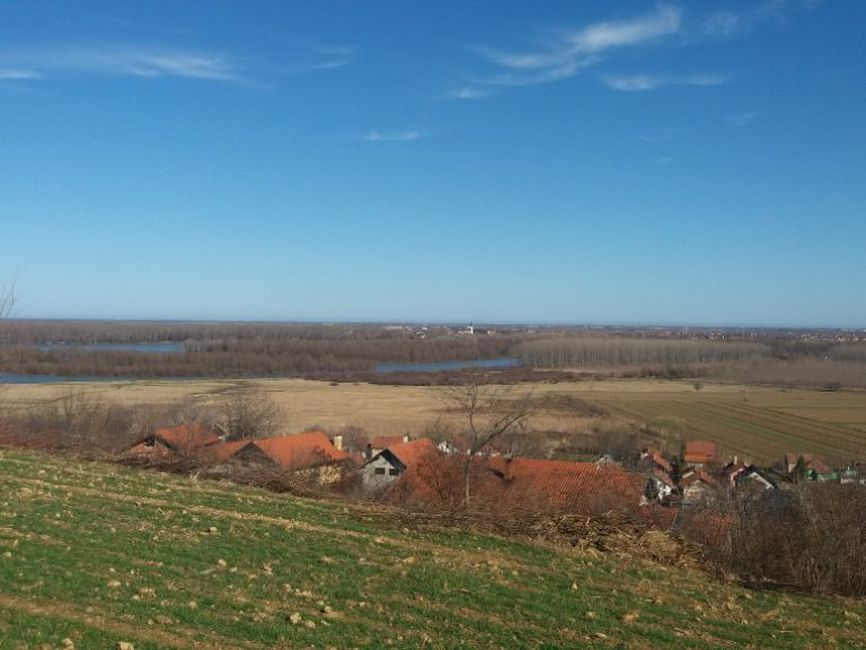 Plac Brazilija,pogled na Dunav